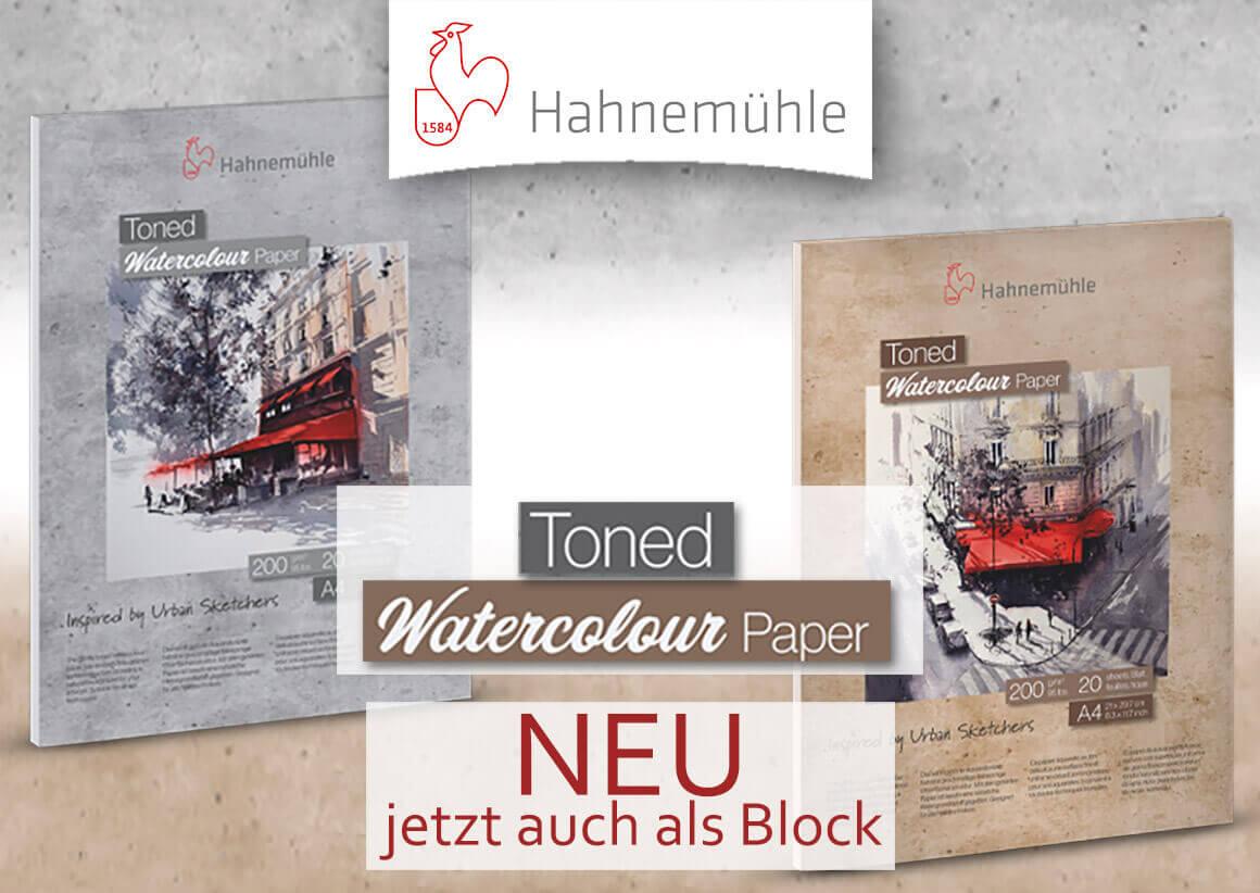 Hahnemühle - Toned Watercolour Blöcke - jetzt NEU im kunstpark