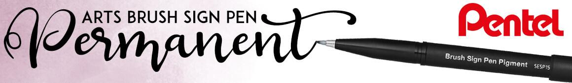 NEUHEIT - Pentel Art Sign Brush Pen Pigmentiert - jetzt online im kunstpark