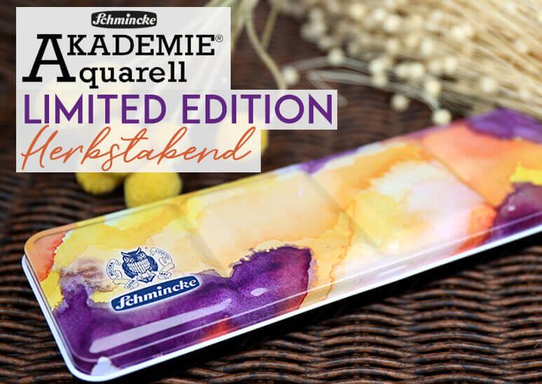 Schmincke Akademie Aquarell Limited Edition Herbstabend im kunstpark entdecken