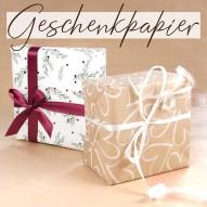 Geschenkpapier Viele Farben & Motive