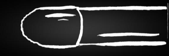 Katzenzungenpinsel Ideal für Striche, K