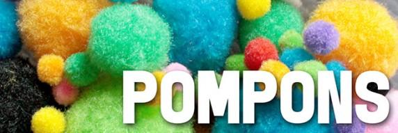 Pompons - flauschige Bastel-Pompons!