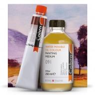 Wasservermalbare Ölfarben einfach mit W