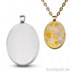 Anhänger Vintage Collection - Oval, 3,2x4,2 cm mit Cabochon