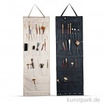 Atelier-Wandhänger mit 48 Taschen, ca. 50 x 148 cm Nylon schwarz