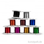 Basteldraht-Set, 9x2m - farbig sortiert