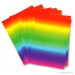 Bastelkarton - Regenbogen, zweiseitig, 10 Blatt, 180g, DIN A4