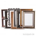 Bilderrahmen aus Karton, metallicfarben, 16 Blatt