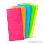 Blumenseide 50x70 cm, 5 Bogen, 20g - Neonfarben