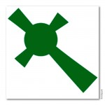 Bodypainting-Schablone - Celtic Cross