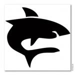 Bodypainting-Schablone - Hai