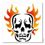 Bodypainting-Schablone - Skull