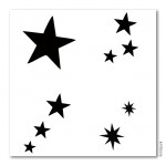 Bodypainting-Schablonen Set Sterne