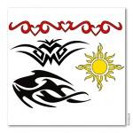 Bodypainting-Schablonen Set Tribals (XL)
