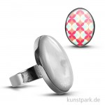 Cabochon Fingerring Oval - 27x19 mm - Silber