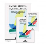 Canson Studien Aquarellblock, 12 Blatt, 300g rauh