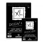 Canson XL Dessin NOIR Zeichenpapier, 40 Blatt, 150g
