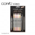 COPIC ciao Set 5+1 - Hautfarben