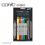 COPIC ciao Set 5+1 - Leuchtende Farben