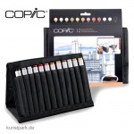 COPIC Marker Set 12 Architekturfarben im 24er Wallet