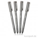 COPIC Multiliner Warm Grey Classic Set - 4 Strichstärken