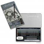 Cretacolor ARTINO Graphite, Metalletui 10 teiliges Graphitset