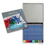 Cretacolor MARINO Aquarellstifte - 24 Farben sortiert im Metalletui