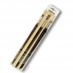 Da Vinci Pinselset GRIGIO-Synthetics, 4 Pinsel mit Bambusmatte