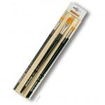Da Vinci Pinselset NOVA-SYNTHETICS, 4 Pinsel mit Bambusmatte