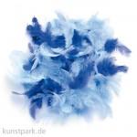Deco-Federn - Blau, 10g sortiert