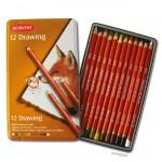 Derwent DRAWING - Künstlerzeichenstift Sortiment, 12 Farben