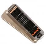 Derwent GRAPHIC Set - 6 Bleistifte im Blechetui, Anspitzer