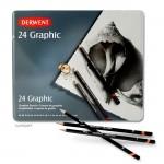 Derwent GRAPHIC Set - Blechetui 24 Bleistifte 9B-9H