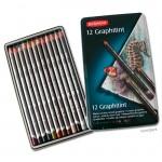 Derwent GRAPHITINT Set - 12 Stifte im Blechetui