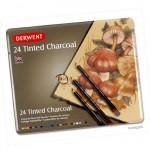 Derwent TINTED CHARCOAL - 24 Stifte im Blechetui