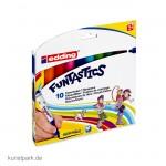 edding 14 FUNTASTICS Kinder-Fasermaler Set mit 10 Farben