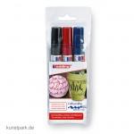 edding 1455 Kalligrafie-Marker Set, flexible Spitze, Etui mit 3 Farben