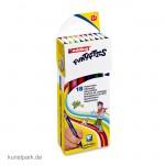 edding 15 FUNTASTICS Kinder-Fasermaler Set mit 18 Farben