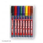 edding 361 Whiteboard-Marker Set, Etui mit 8 Farben