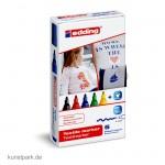 edding 4500 Textil-Marker Set mit 5 Farben