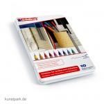 edding 55 Fineliner Set, Metallschachtel mit 10 Farben