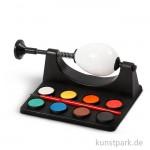 Eierhalter mit 8 Farben und Pinsel, 16,5 cm lang