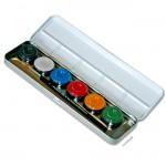 Eulenspiegel 6 Perlglanzfarben Metall-Palette mit Pinsel