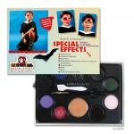 Eulenspiegel Special-Effects-Palette mit 4 Farben, Effekte und Filmblut