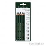 FABER CASTELL 9000 Jumbo Bleistift-Set - 5 verschiedene Härtegrade