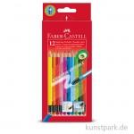 Faber-Castell Buntstift CLASSIC COLOURS - 12er Kartonetui - radierbar