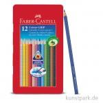 Faber-Castell Buntstift COLOUR Grip - 12er Metalletui