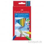 Faber-Castell Buntstift TRIANGULAR JUMBO - 20er Kartonetui mit Spitzer