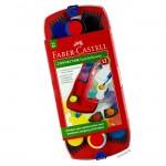 Faber Castell Connector Farbkasten, 12 Farben inkl. Deckweiß