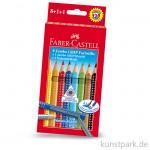 Faber-Castell JUMBO Grip Etui mit 8 Buntstiften und Bleistift
